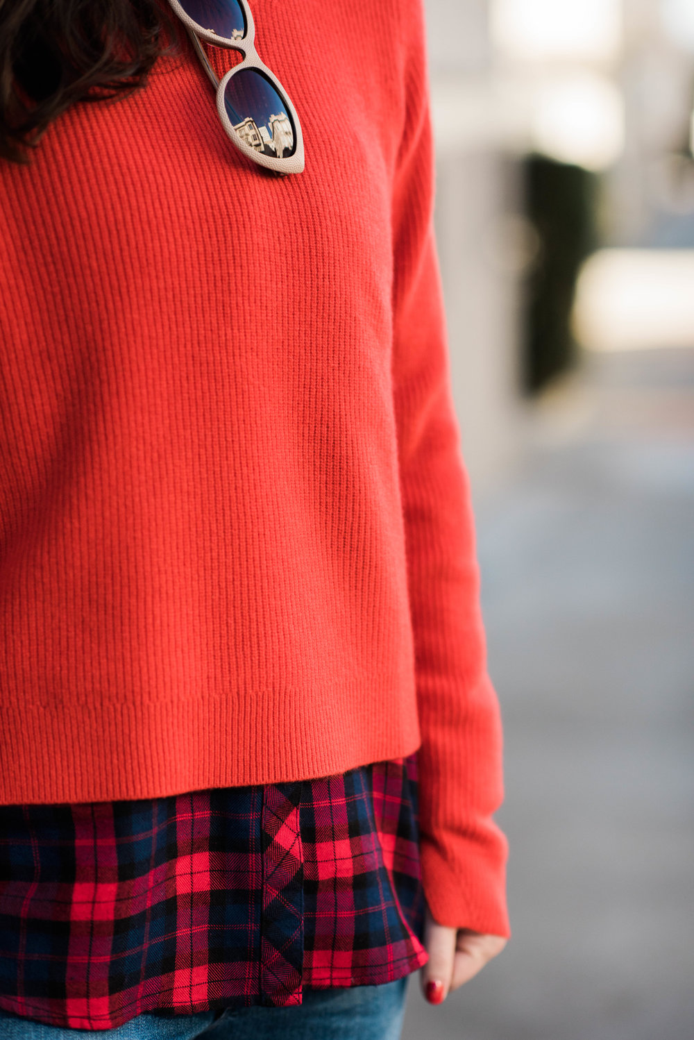 orange rag and bone sweater freckles on fillmore