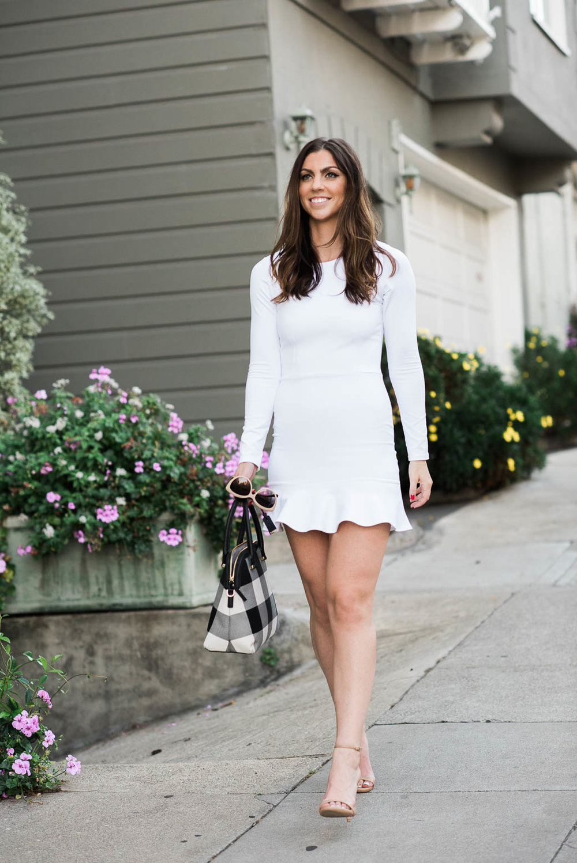 Long Sleeve Ruffle Dress Donna Mizani_freckles on fillmore