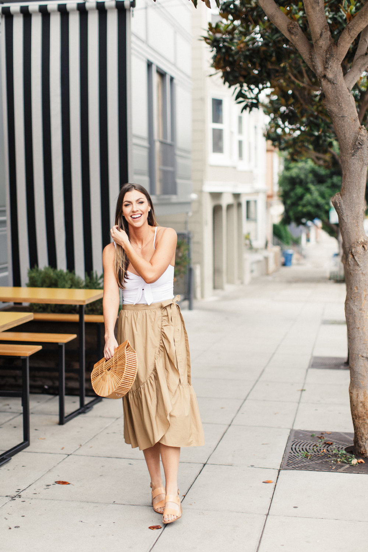 jcrew ruffled cotton-poplin wrap skirt