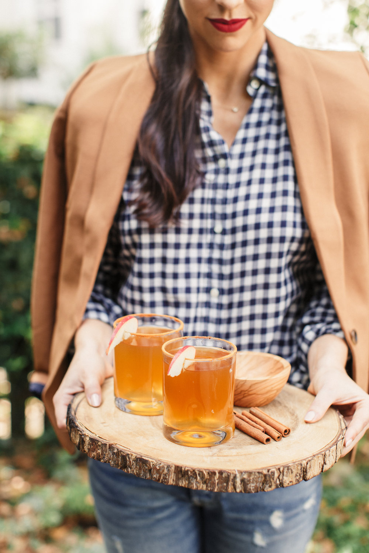 fall cocktails cinnamon bourbon lemon apple cider