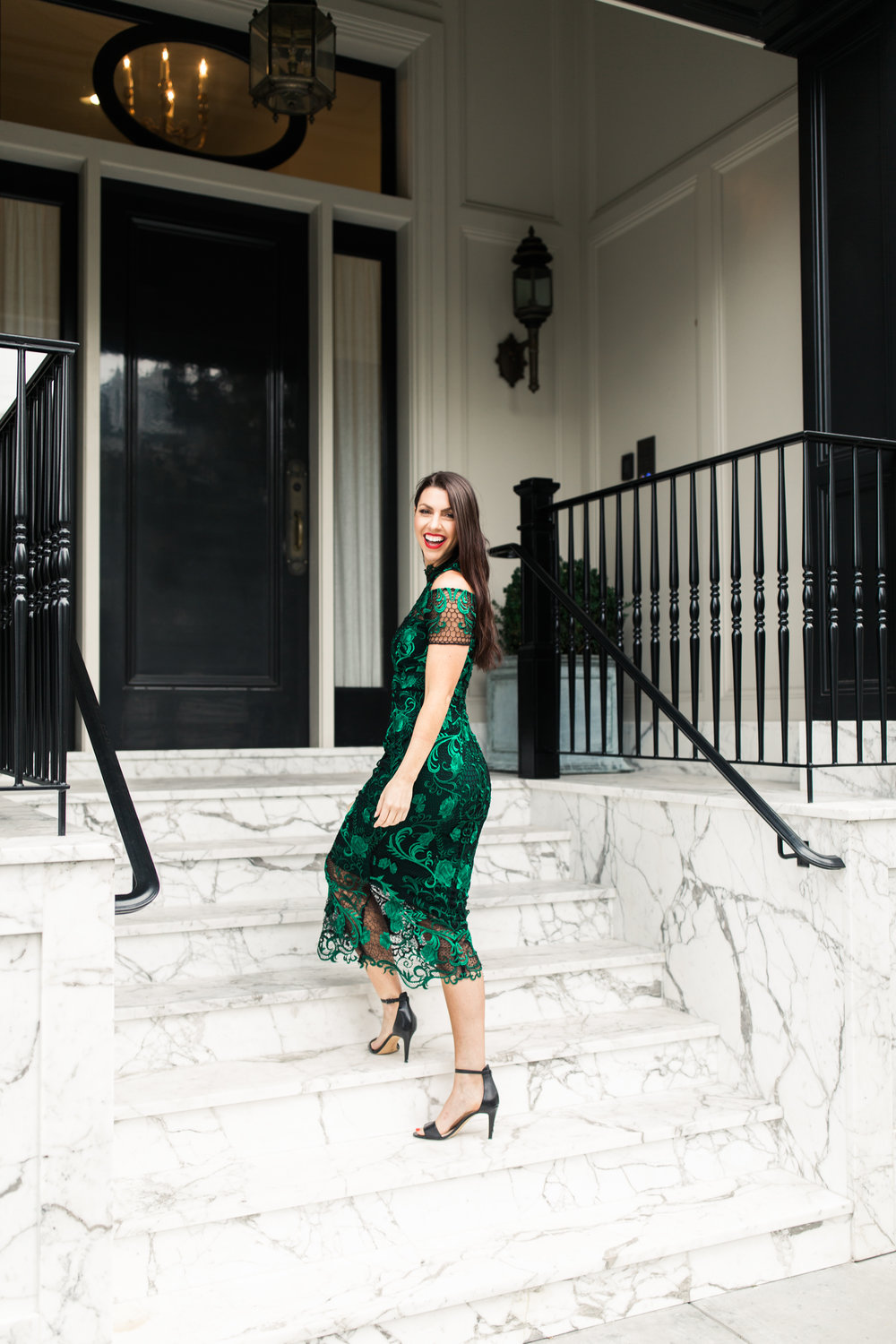 Marchesa Notte Remove from Hearts Green Lace Cocktail Dress