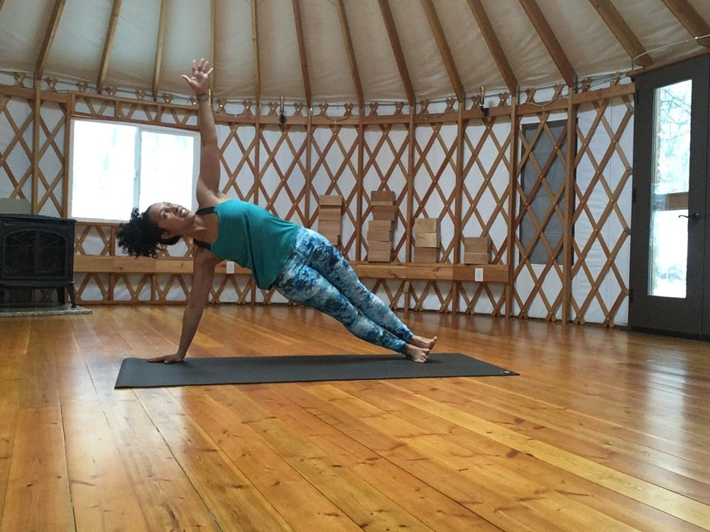 Yoga in hOMe PYM's yurt!