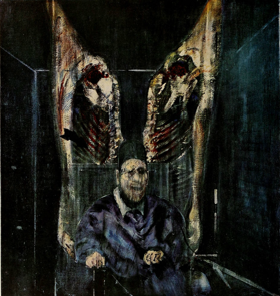 rawforms :       Figure with Meat    1957  Francis Bacon