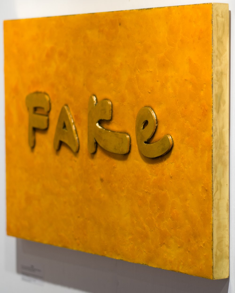 Fake   (Detail of fake gold lettering and edge)