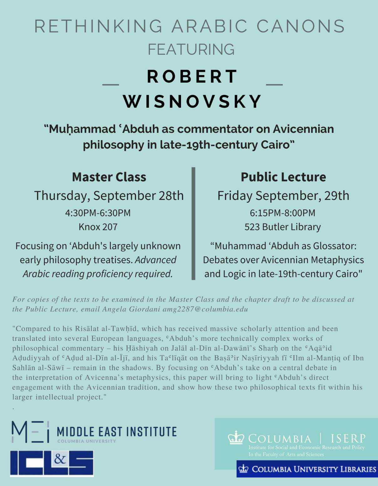 Arabic Canons | Robert Wisnovsky — Middle East Institute