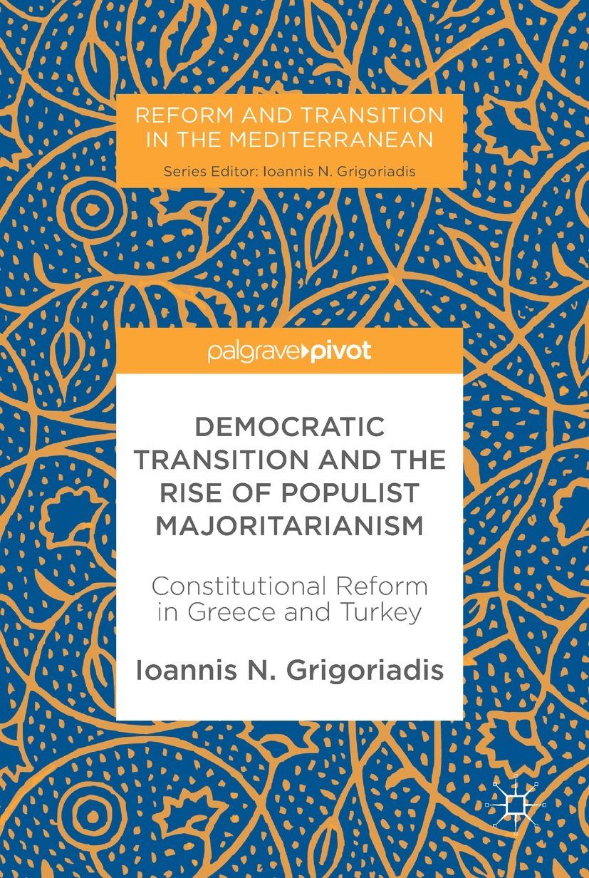 "October 31st from 12-2PM   Knox Hall Room 207    Ioannis N. Grigoriadis , Associate Professor and Jean Monnet Chair of European Studies at the Department of Political Science and Public Administration at Bilkent University, Turkey,  will be discussing his new book,  ""Democratic Transition and the Rise of Populist Majoritarianism: Constitutional Reform in Greece and Turkey"".    This comparative study explores the impact of populist majoritarianism on Greek and Turkish democratic transition. Using the case studies of Greece and Turkey, the author argues that while majoritarianism is often celebrated as a manifestation of popular sovereignty, it can undermine institutional performance. In cases of transition states where social capital is scarce and polarization is high, it can even upset the process of democratic consolidation, contributing to a confrontational and inefficient democratic regime. A ""mild democracy"" would require a calibrated system of checks and balances, trust- and consensus-building mechanisms. This book will be of use to students and scholars interested in the fields of Greek and Turkish politics, law and democratization.   http://www.springer.com/us/book/9783319575551   Special offer - get 20% of the print book or ebook! Use code Grigoriadis17 on  palgrave.com  Valid 31/10/17 - 31/12/17  You can find a  video interview  of Professor Grigoriadis  here ."