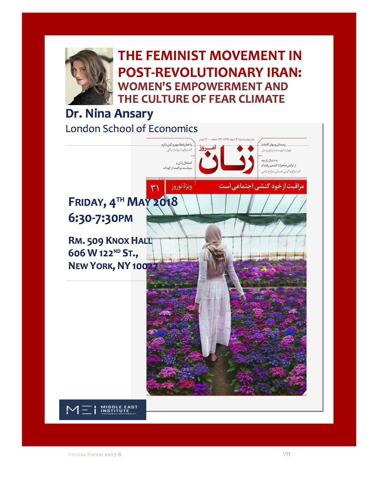 TALK | The Feminist Movement in Post-Revolutionary Iran