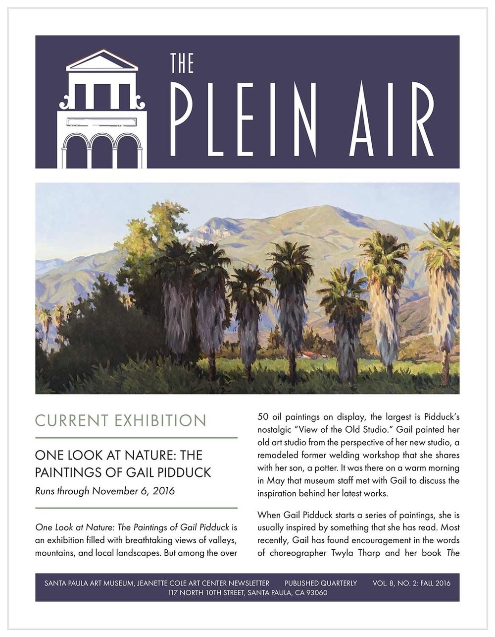 The Plein Air, Fall 2016
