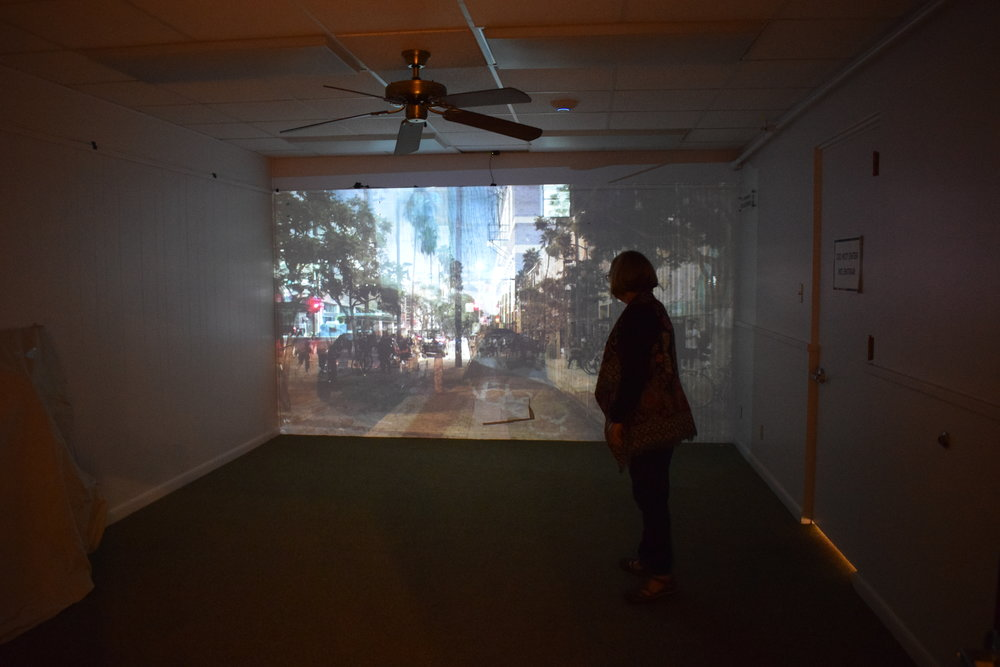 "Shan Wu's ""La:"" video installation."