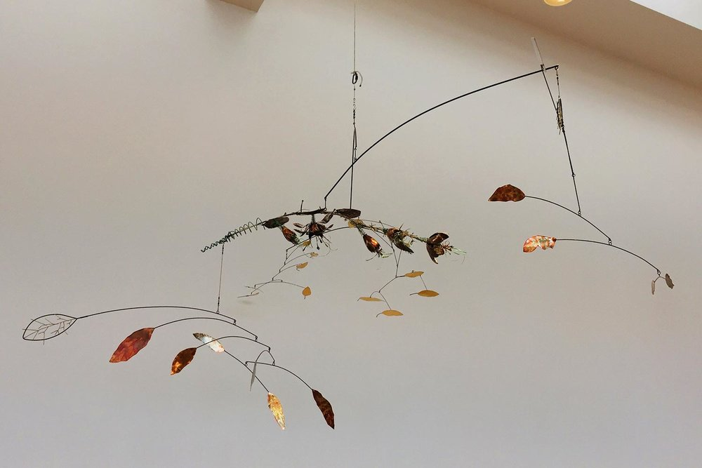 Artist Sam Grasso's mobile entitled  Stress Blossoms .