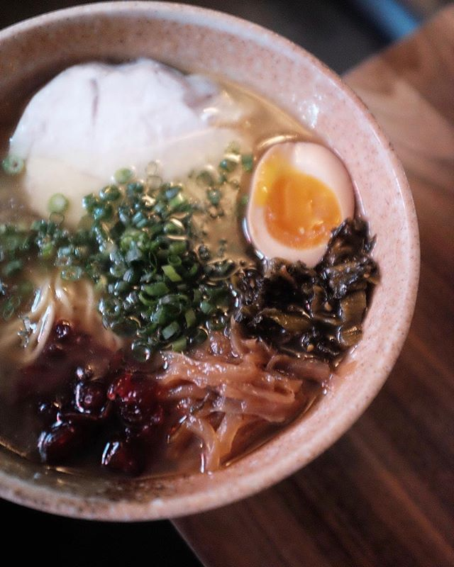 It's Thanksgiving week! You know what the means... Smokey Turkey Shoyu Ramen - sous vide turkey breast / egg / mustard greens / caramelized onions / pickled cranberries / negi. 5PM peeps! #respecttheramen