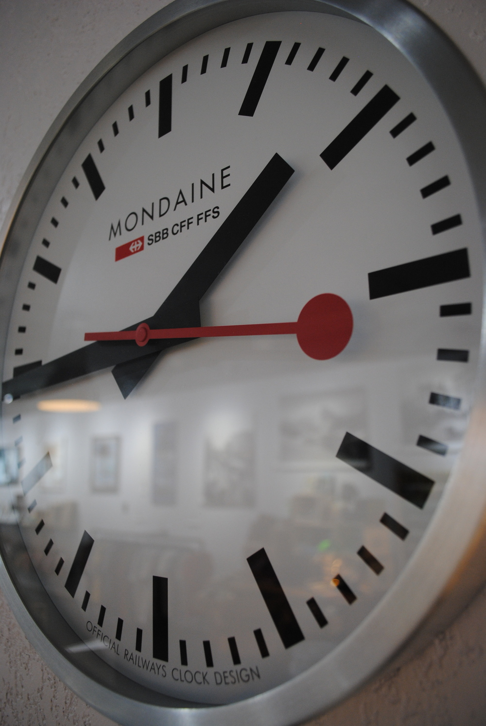 Mondaine Clock at The Prints and the Paper