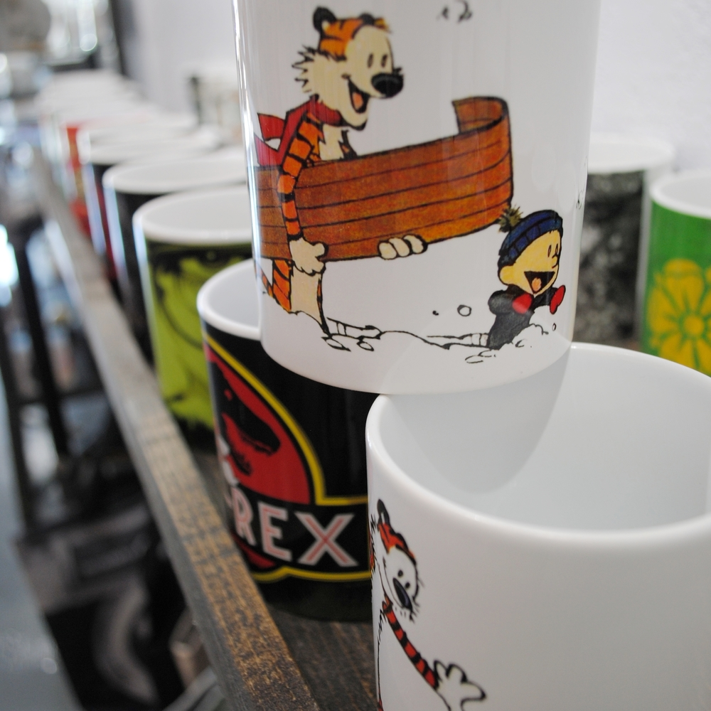 Coffee Mugs at The Prints and the Paper in Edmonton on 124 street