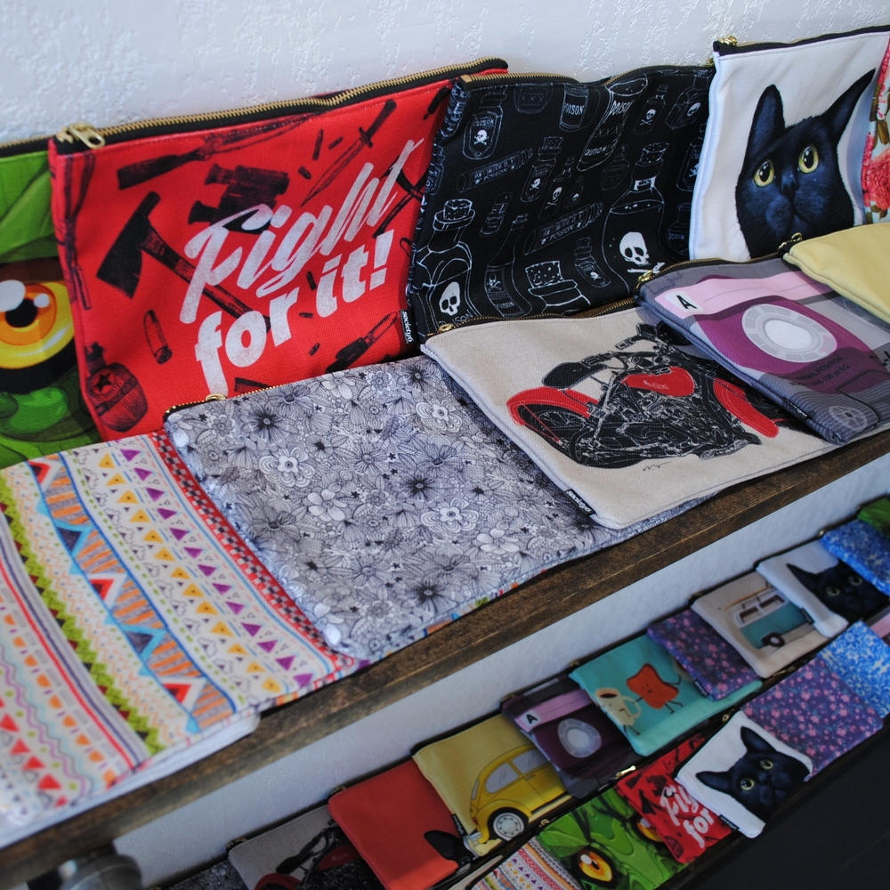 Pouches at The Prints and the Paper in Edmonton on 124 street