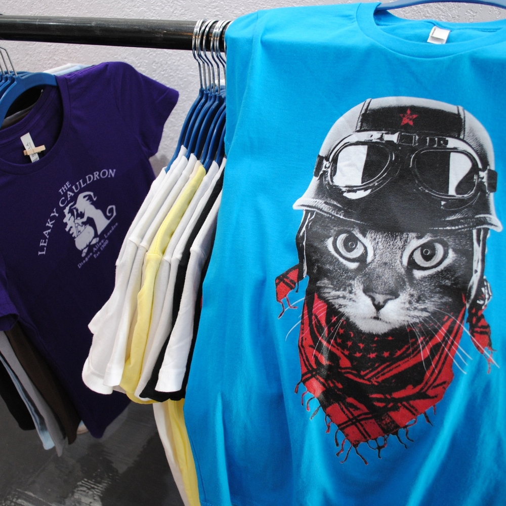 Biker Kitty shirt at The Prints and the Paper in Edmonton on 124 street