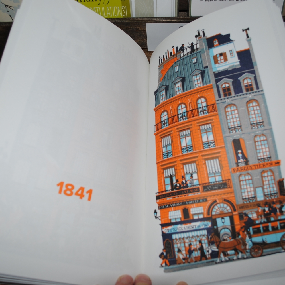 750 Years in Paris book at The Prints and the Paper in Edmonton on 124 street