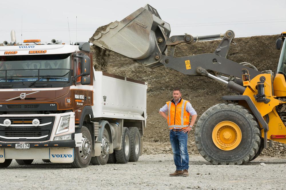 Daniel Francis, Operations Manager of Road Metals Co. Ltd.