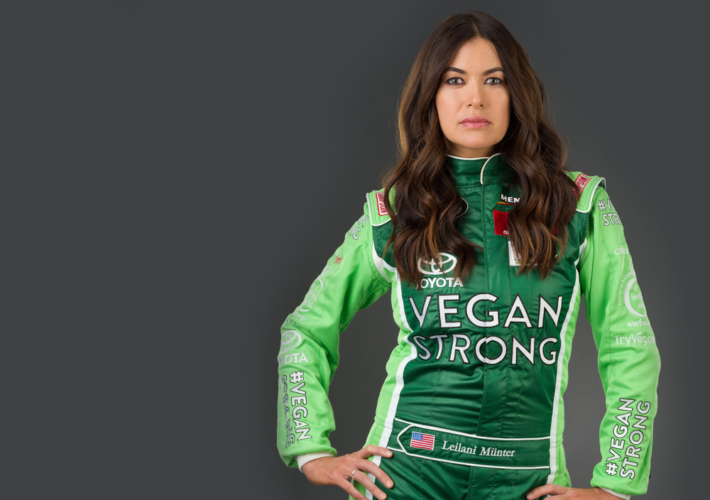 - VegNation® founder Leilani Münter is a biology graduate turned professional race car driver and environmental activist. Her motto:
