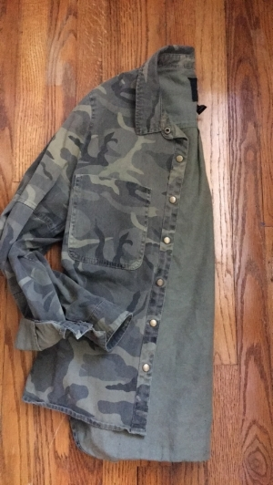 Forever 21 Camo Button Up-$7