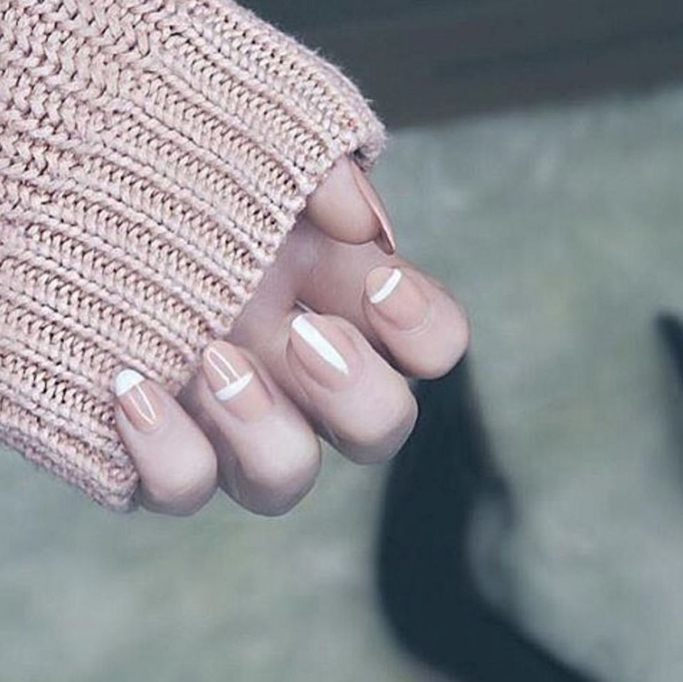 geometric neutral nail trend