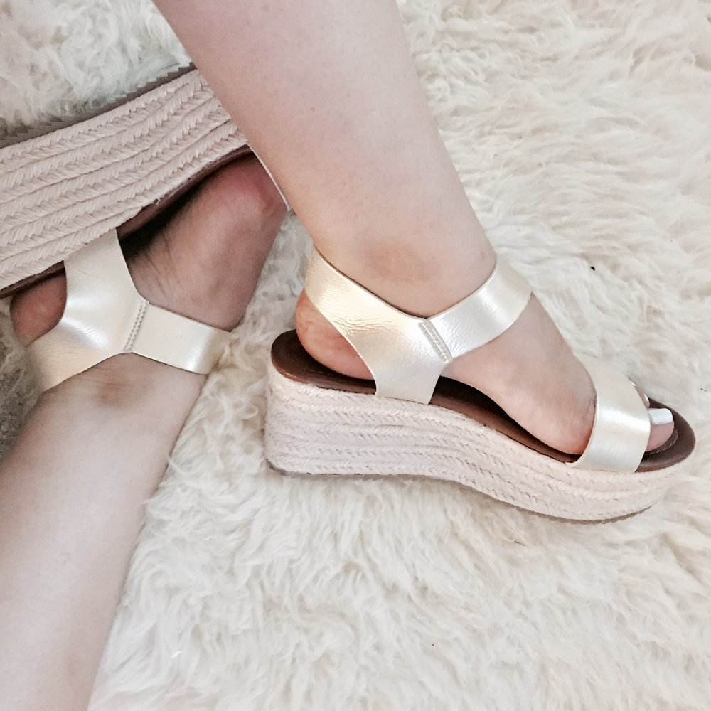 Gold Flatform Sandals, $5.65