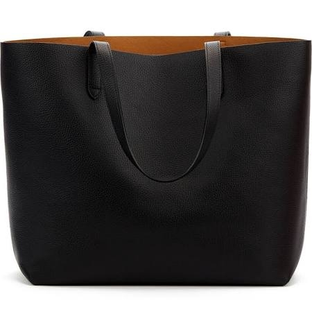 Classic Structured Leather Tote-cuyana