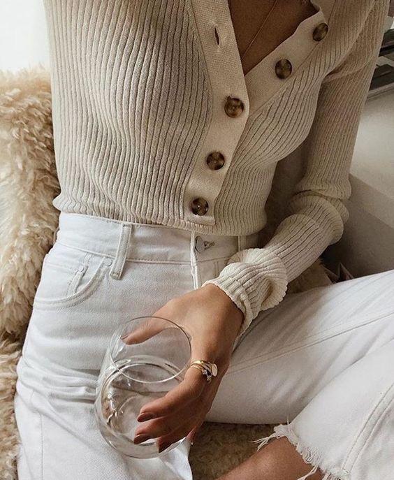 big button minimal shirt