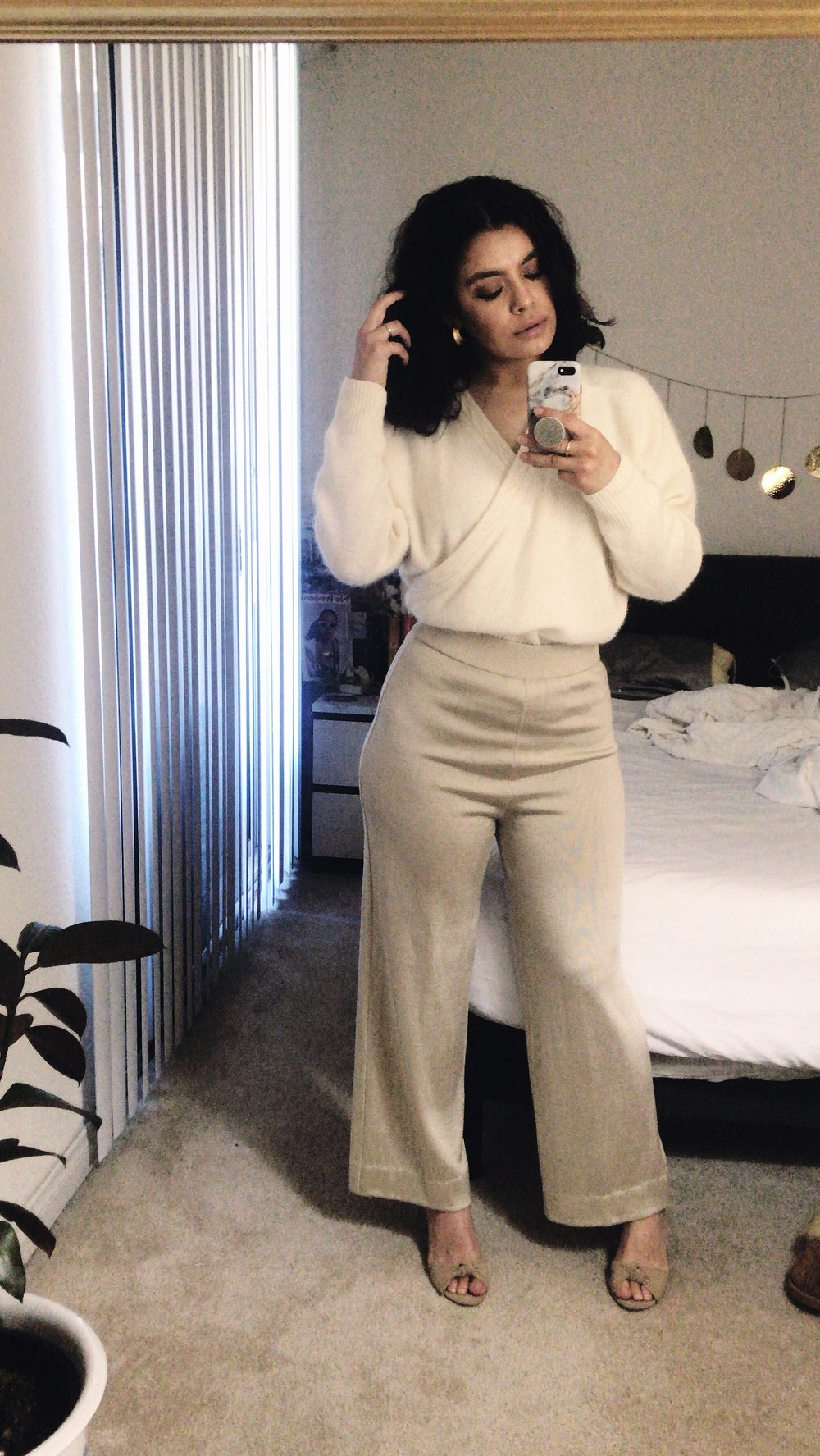 neutral all beige outfit idea spring 2019