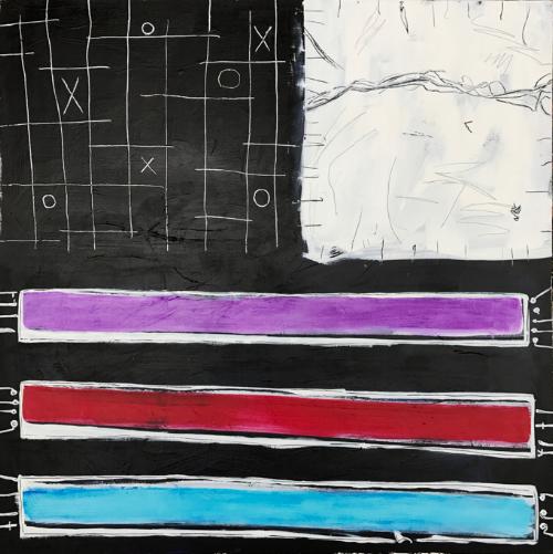"""Teach Your Children Well Acrylic paint canvas 30"""" x 40"""" $1,200"""