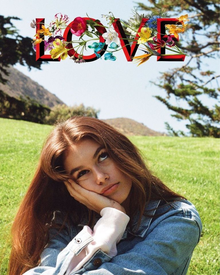 Kaia Gerber by Kendall Jenner for LOVE magazine
