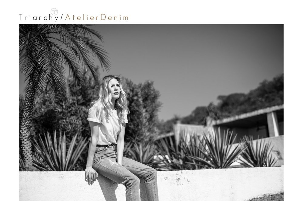An Image from Triarchy Denim's latest campaign.