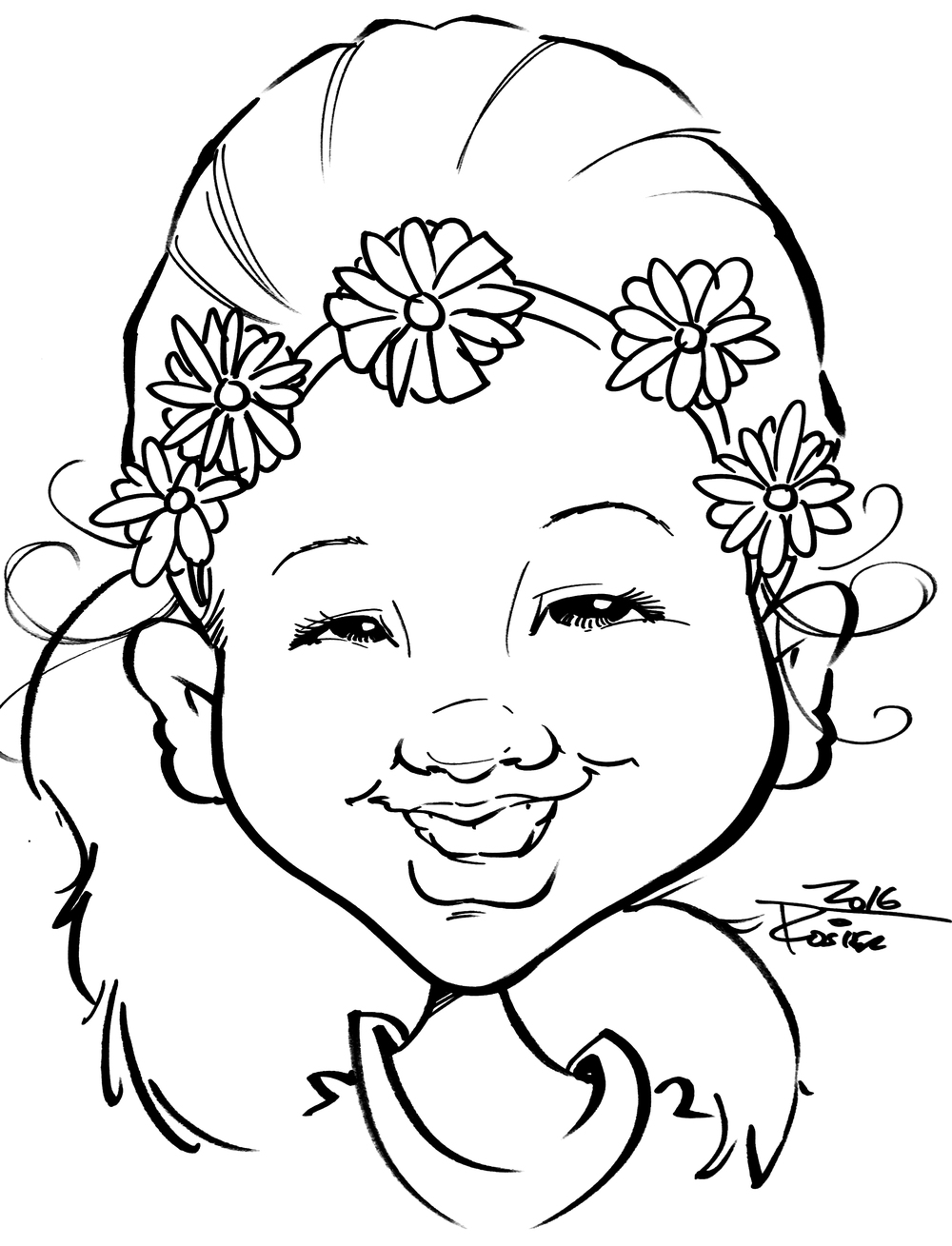 Traditional Hand-Drawn Caricature Sample 6