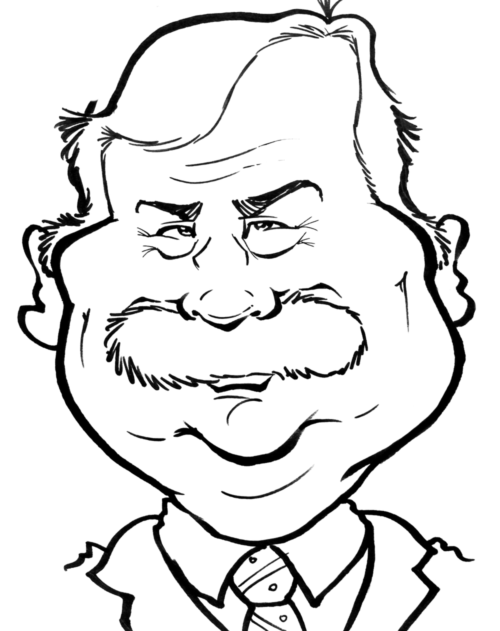 Traditional Hand-Drawn Caricature Sample 16