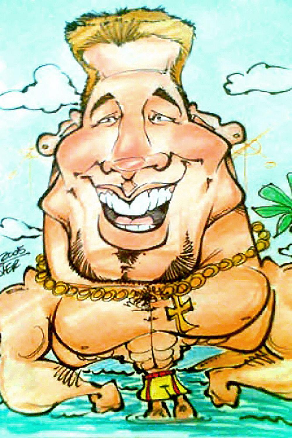 Traditional Hand-Drawn Caricature Sample 5