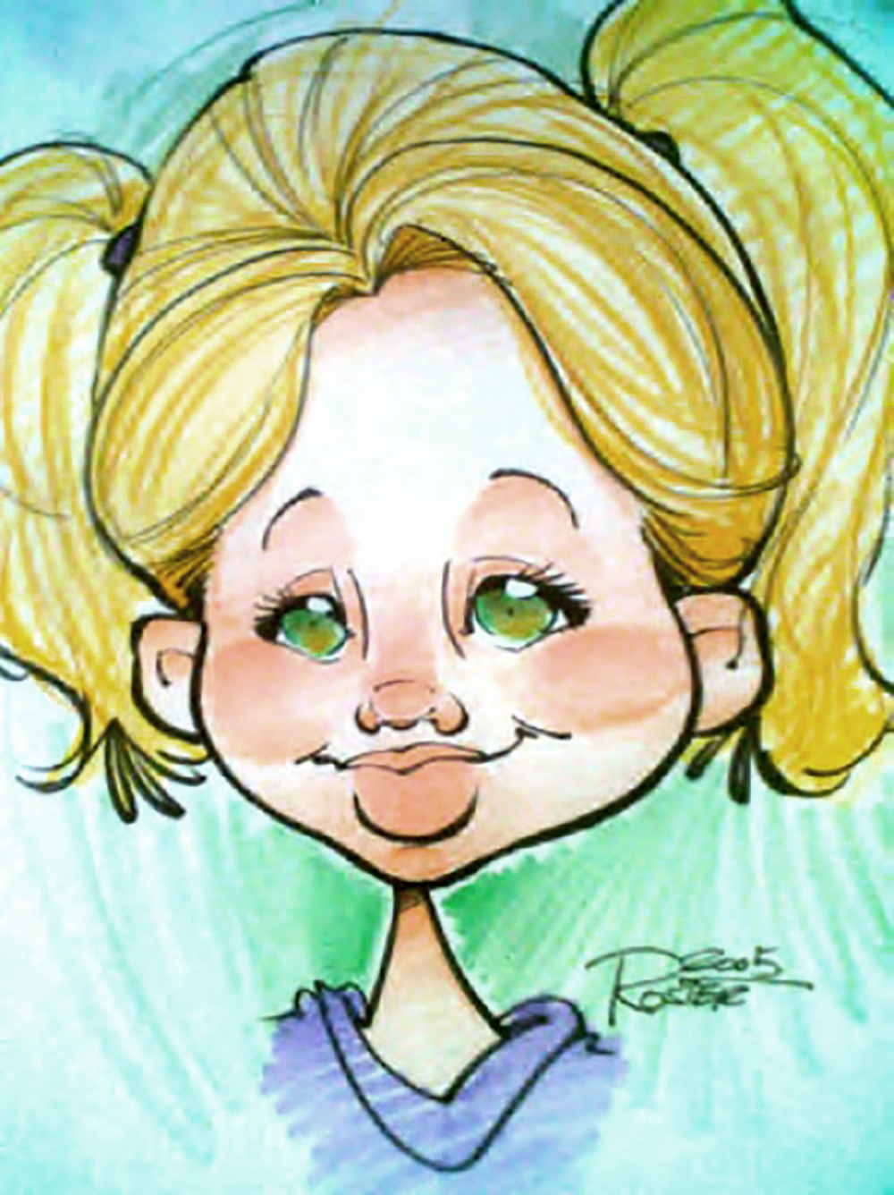 Traditional Hand-Drawn Caricature Sample 15