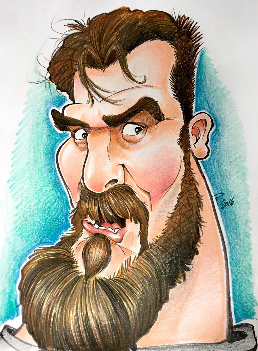 Traditional Hand-Drawn Caricature Sample 1