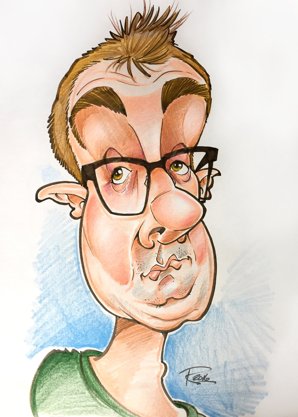Traditional Hand-Drawn Caricature Sample 7