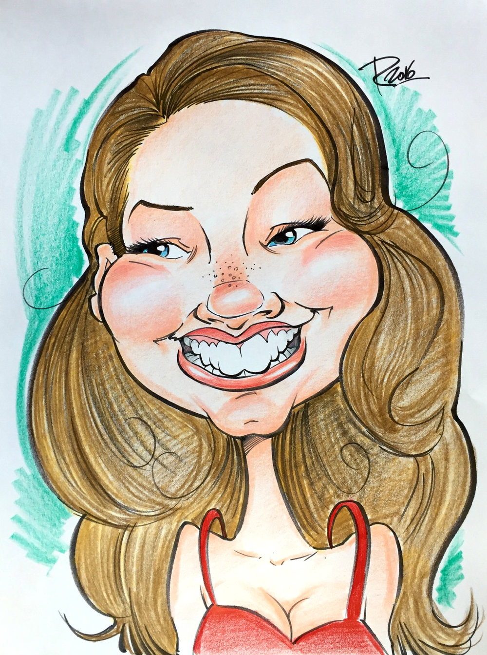 Traditional Hand-Drawn Caricature Sample 18