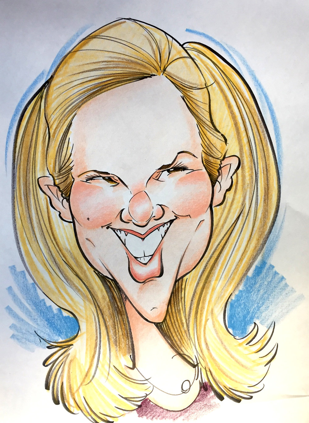 Traditional Hand-Drawn Caricature Sample 11