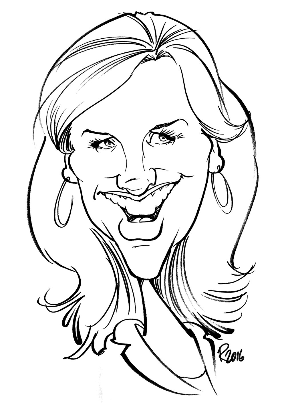 Traditional Hand-Drawn Caricature Sample 14