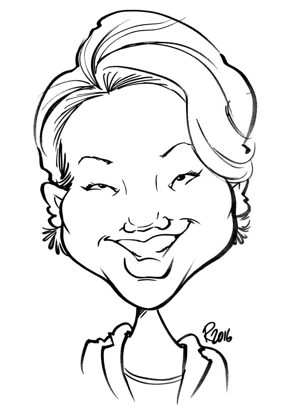 Traditional Hand-Drawn Caricature Sample 12
