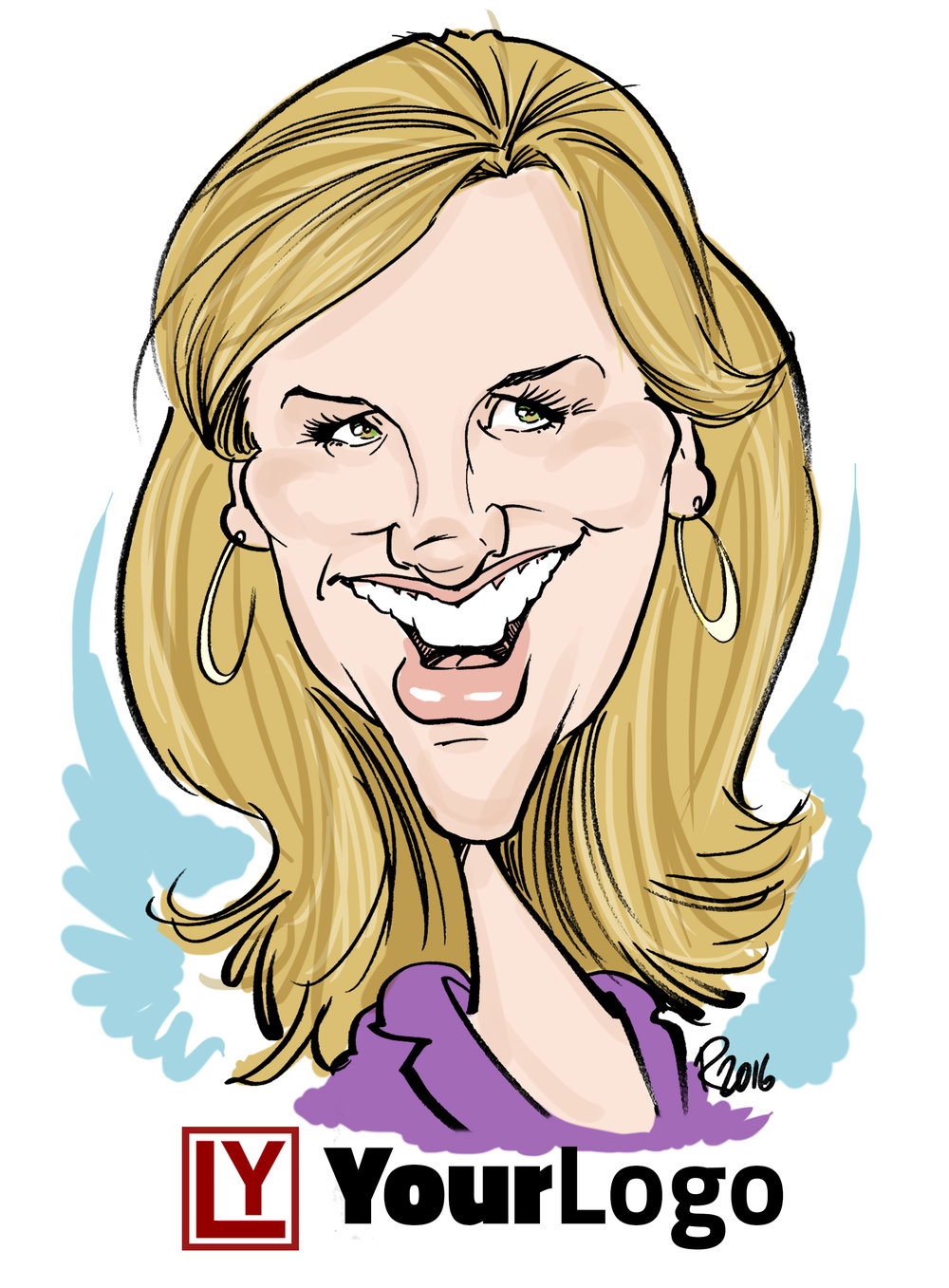 Live Digital Caricature Sample 2