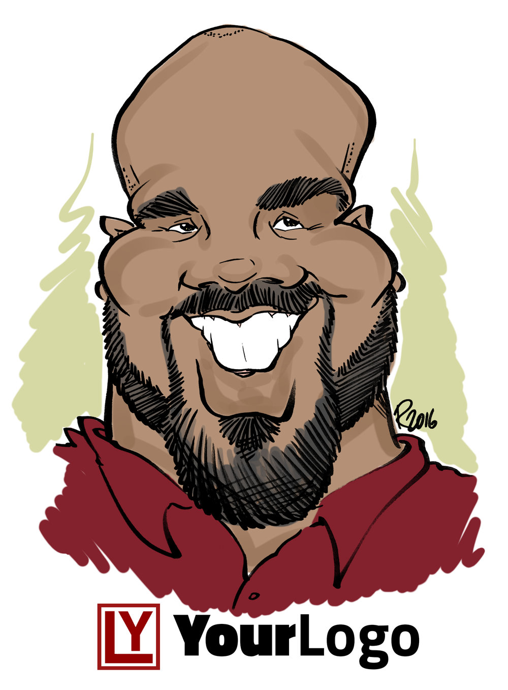 Live Digital Caricature Sample 3