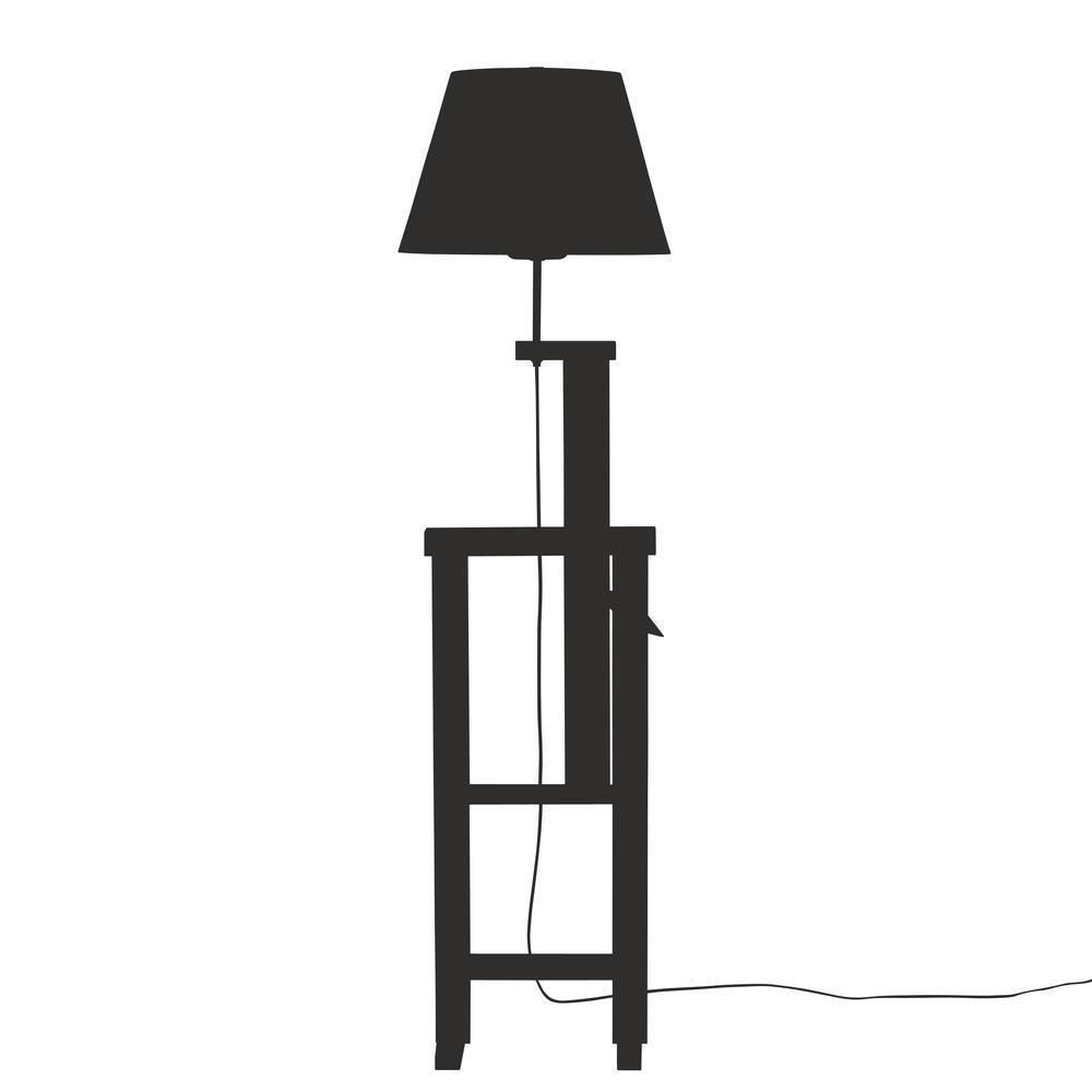 Pawl Adjustable Floor Lamp