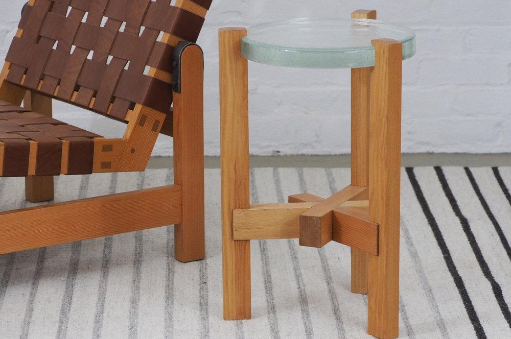 Trilap Cast Glass Table