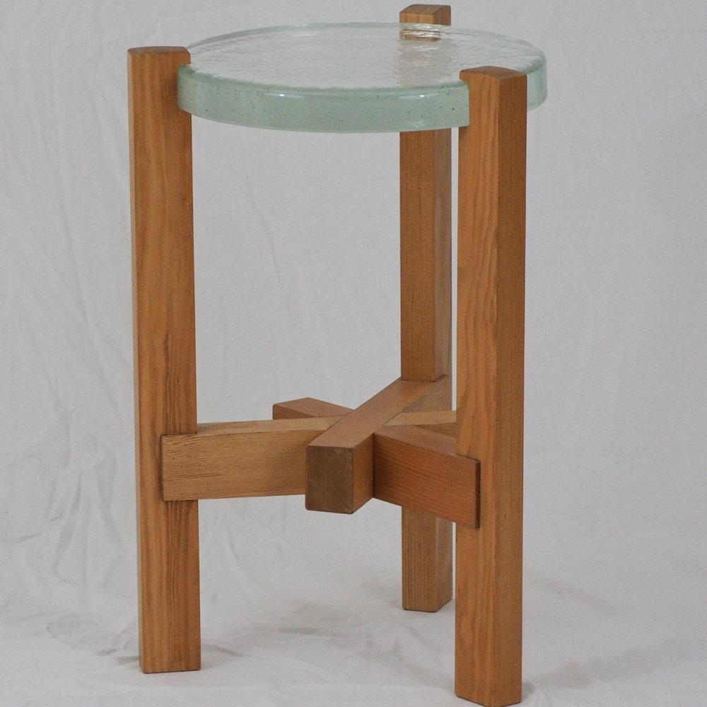 DELF Trilap Cast Glass Table