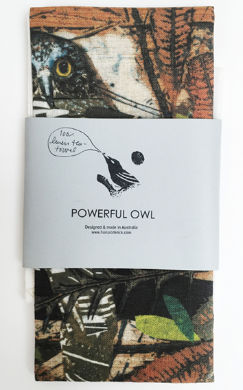 Powerful Owl Tea Towel