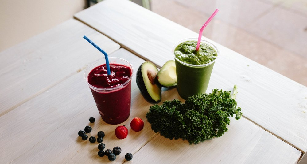 Local Flow Smoothies packed with all your servings of fruits and veggies.