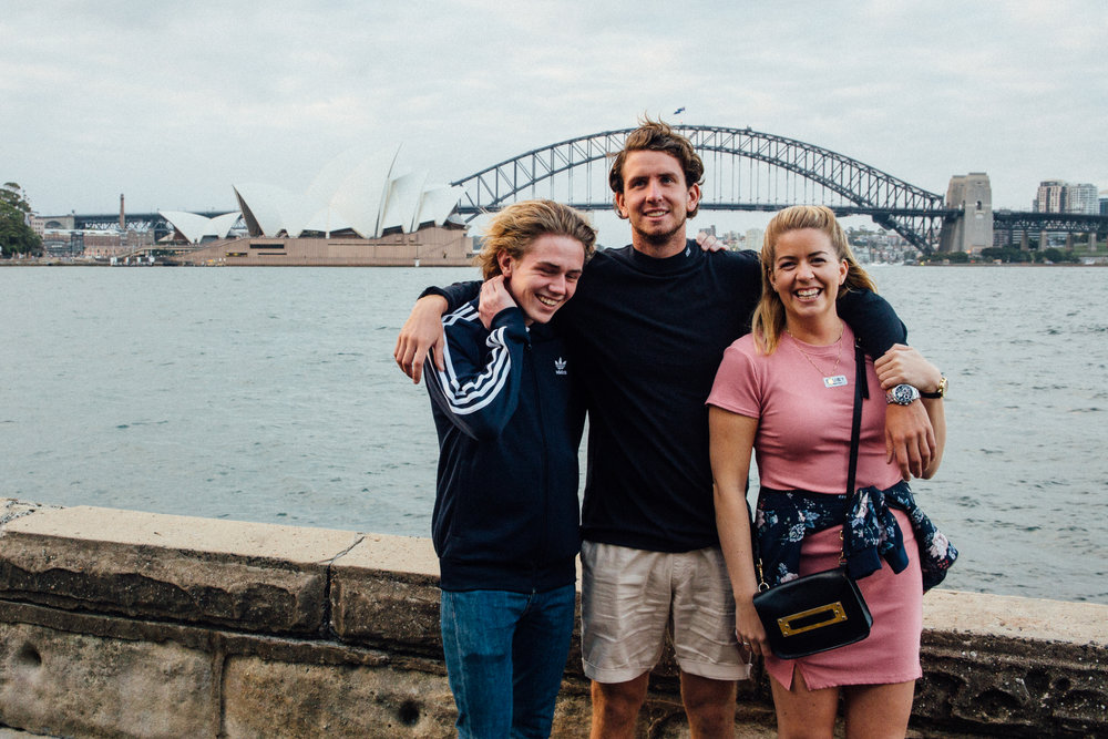 My amazing siblings enjoying Sydney for their first time. Glad to see that I still have some height on my younger brother.