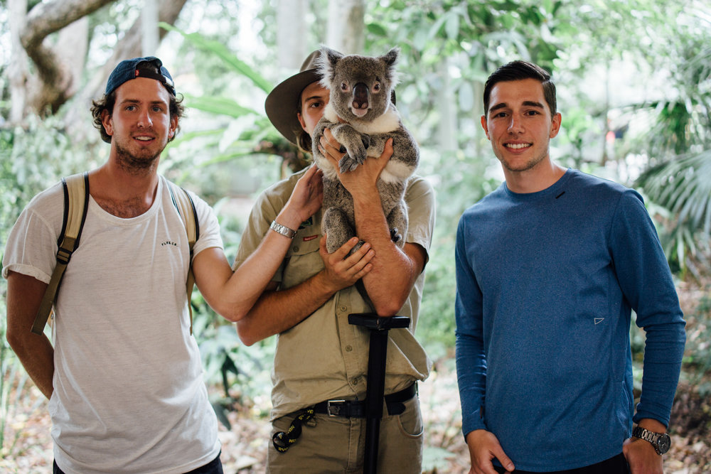 We finally met a Koala! Completely stealing the shot from me and my friend Senad, but totally worth it. Not everyday you get the chance to meet a real life Teddy-Bear.